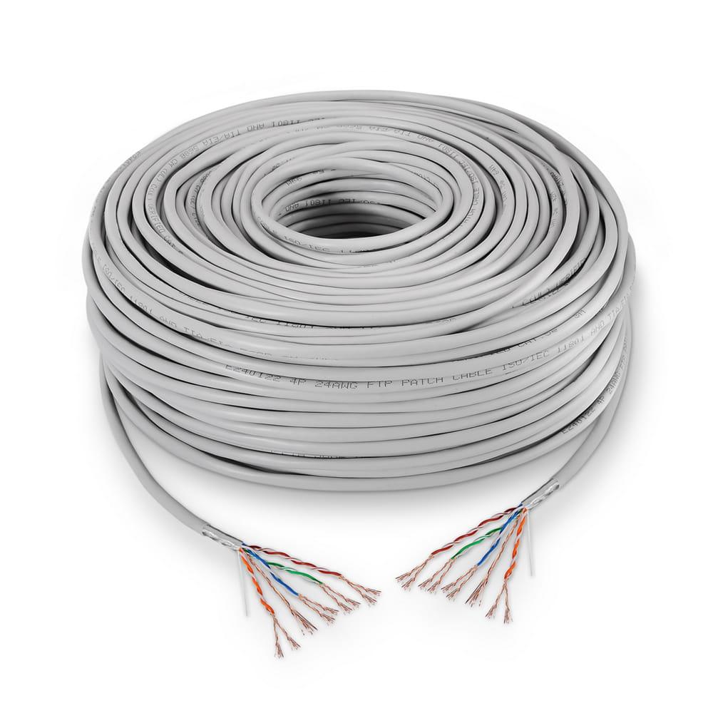 Cable de red RJ45 Cat5e FTP Flexible AWG24. Gris. Bobina 305m.