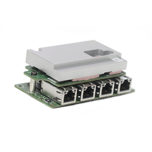 Expansion Module with 4 x PoE+, Intel i210-IT Giga LAN, RJ45 Port  para MITAC MX1-10FEB