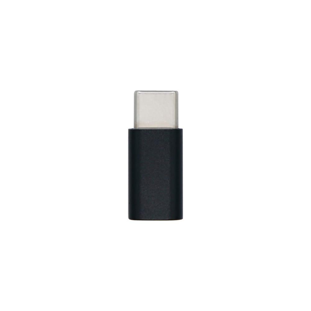 Mini adaptador USB-C USB 2.0. Tipo Micro-B/H-USB-C/M. Negro