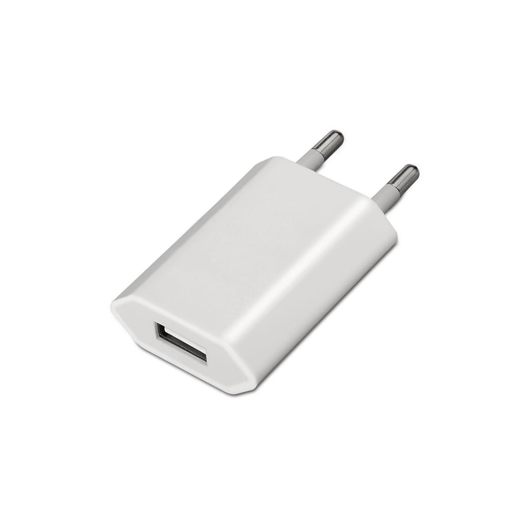 Mini cargador USB. 5V/1A. Blanco.