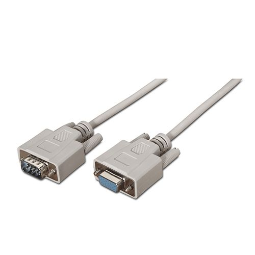 Cable SERIE RS232. DB9/M-DB9/H. beige. 1.8 metros