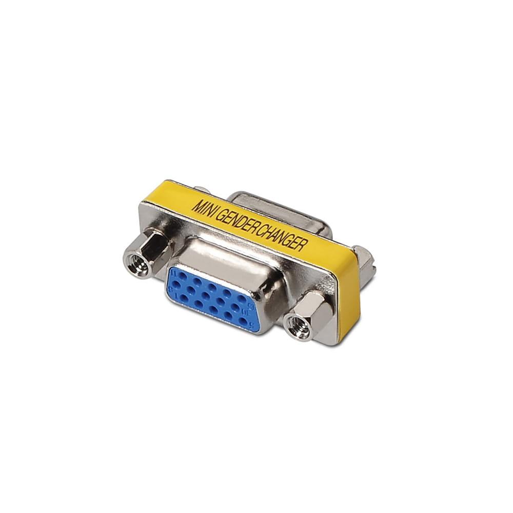 Adaptador SVGA. Tipo HDB15-Hembra / HDB15-Hembra.