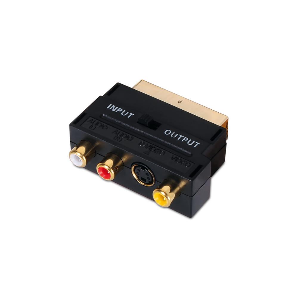 Adaptador Euroconector a RCA/SVideo.