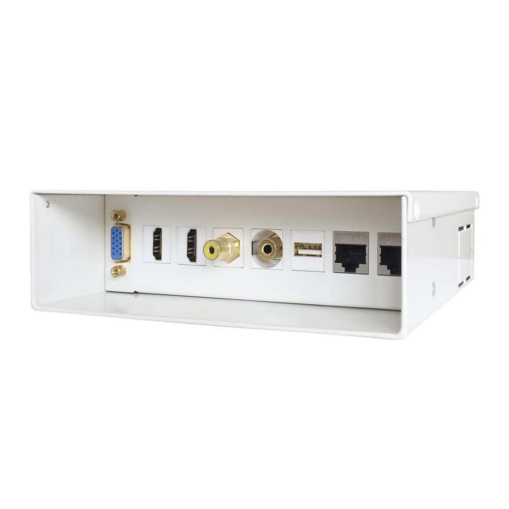 Caja de conexiones multimedia para instalaciones audiovisuales.