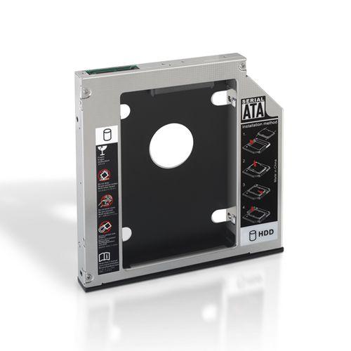 Adaptador disco duro de 9.5mm para unidad óptica portátil de 12.7mm