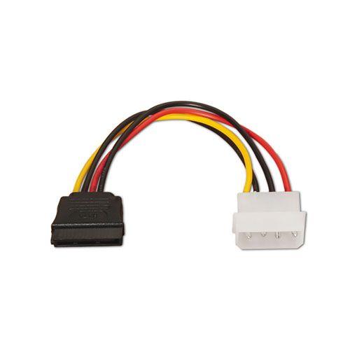 Cable alimentación SATA. Molex 4-Pin/M-SATA/H. 16cm.