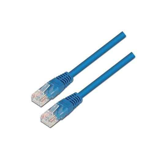 Cable de red RJ45 Cat.6 UTP AWG24. Azul. 3m.