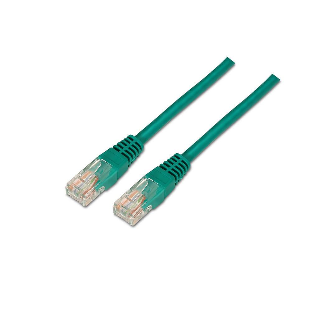 Cable de red RJ45 Cat.6 UTP AWG24. Verde. 0.5m.