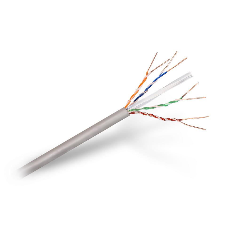 Cable de red RJ45 LSZH Cat6 UTP Rígido AWG24. Gris. Bobina 305m.