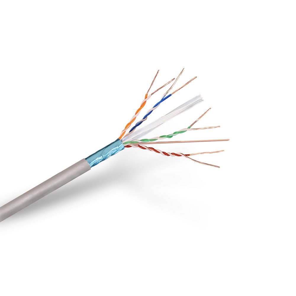 Cable de red RJ45 Cat6 FTP Rígido AWG24. Gris. Bobina 100m.