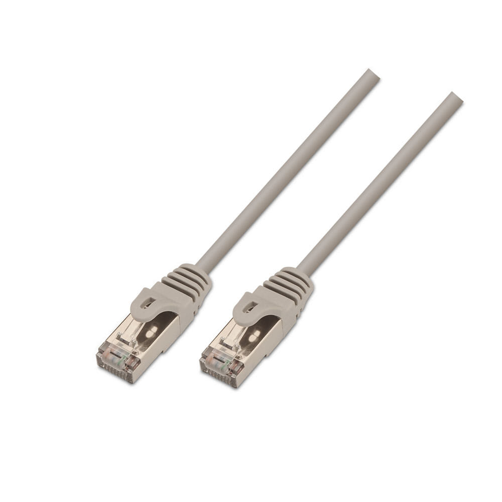 Cable de red RJ45 Cat.6 SSTP PIMF Flexible AWG26. Gris. 2m.