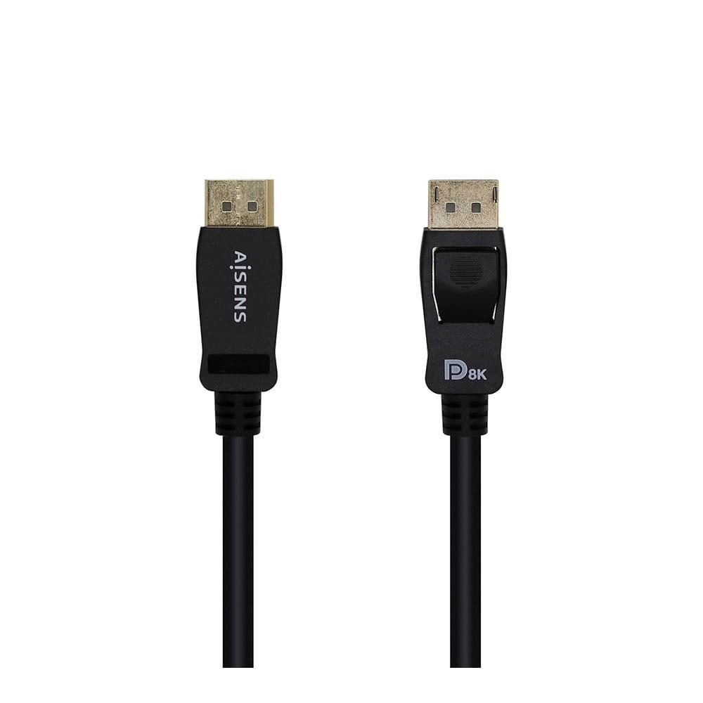 Cable Displayport CERTIFICADO V1.4 8K@60hz, DP/M-DP/M. Negro. 0.5m