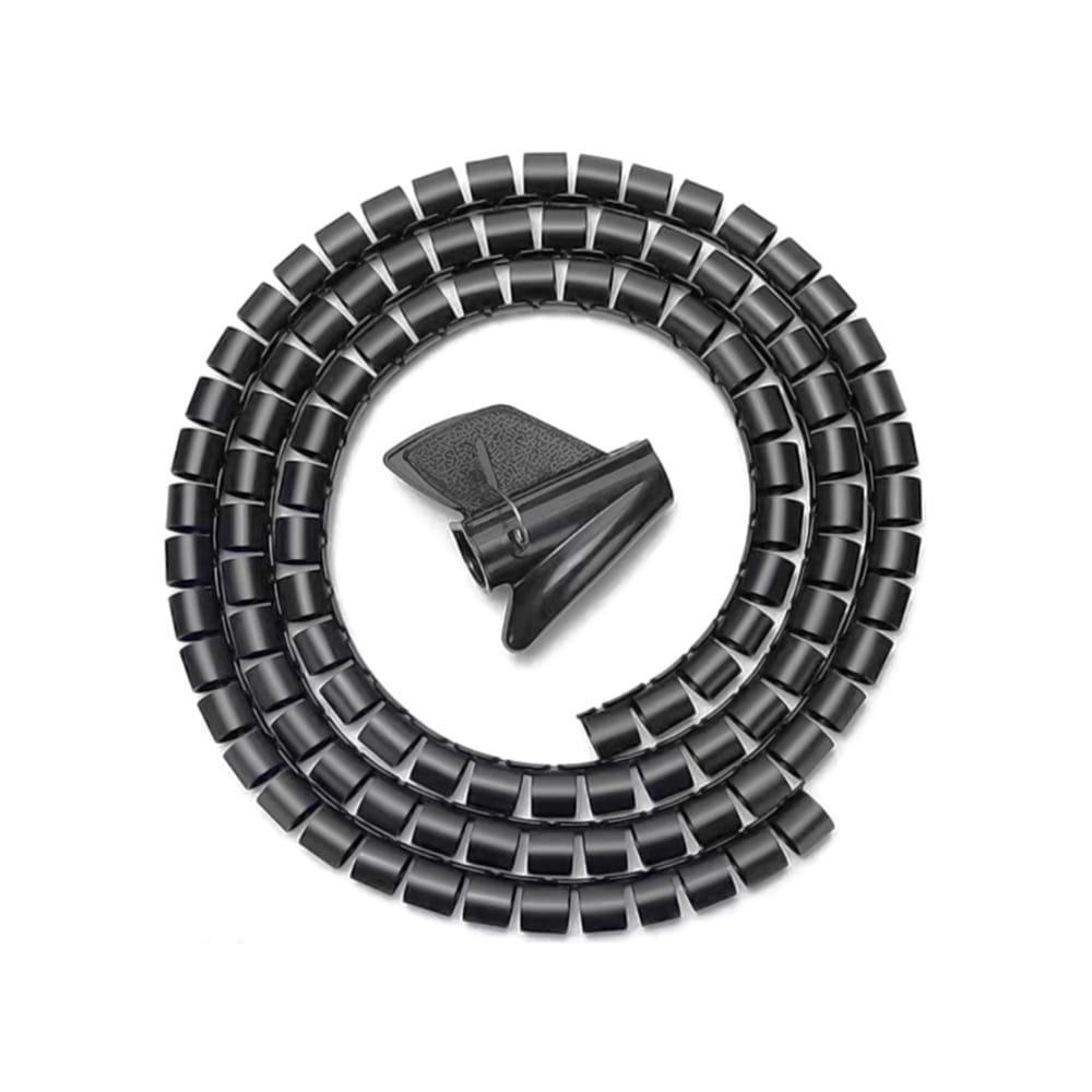 Organizador De Cable En Espiral 25mm. Negro. 1m