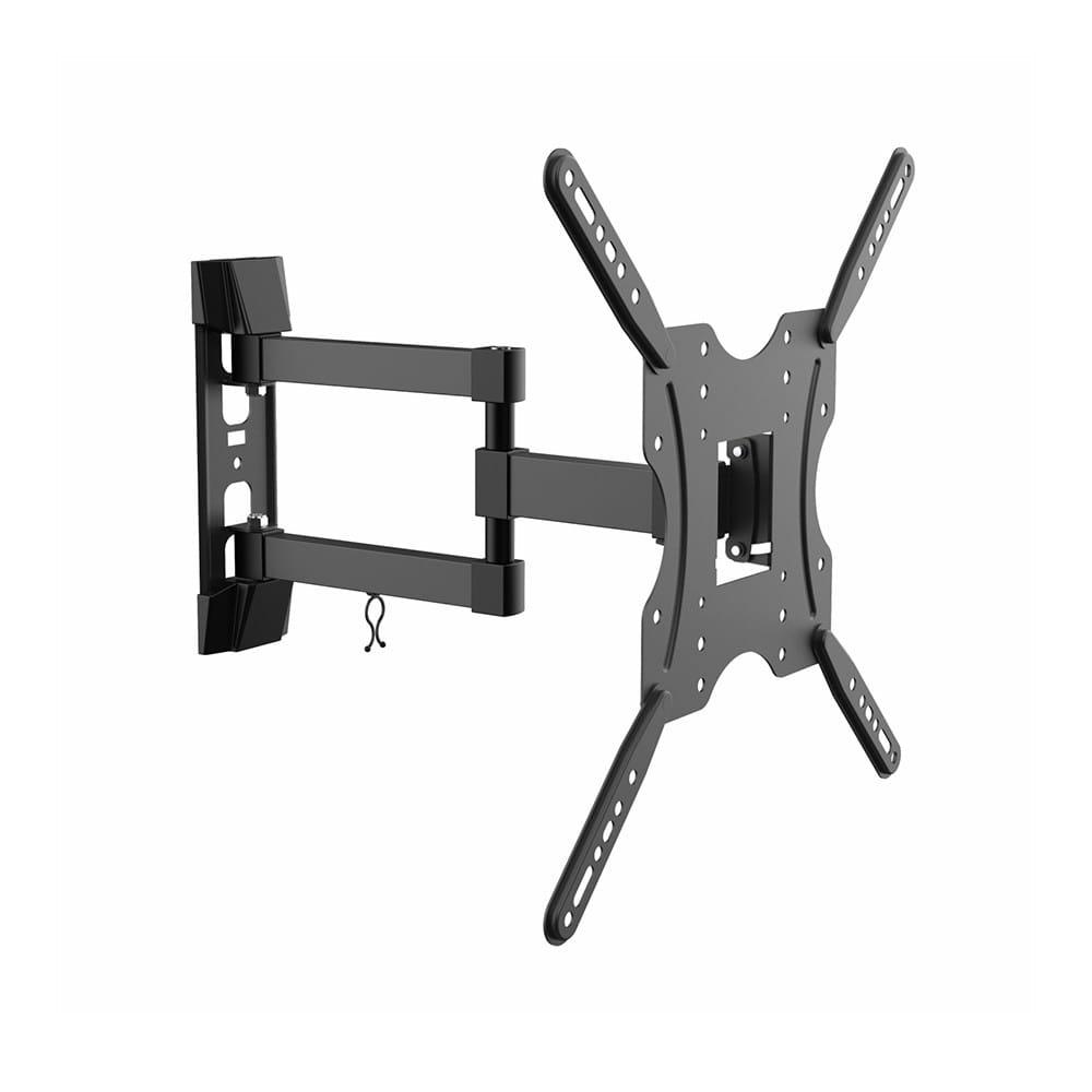 Soporte ECO Giratorio, Inclinable. Para Monitor/TV 30kg (3 Pivotes) De 32-55. Negro