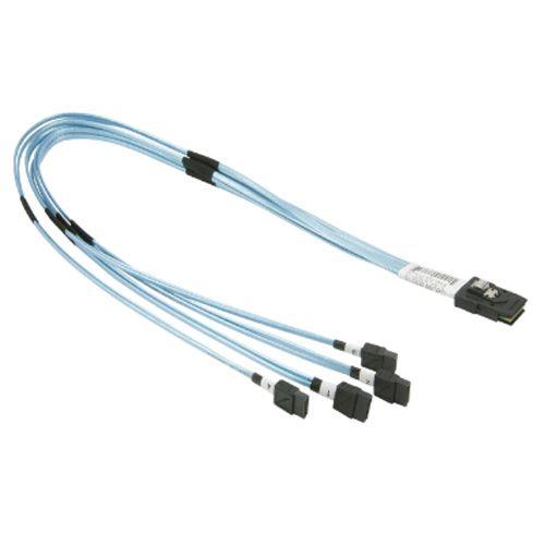 Reverse MiniSAS SFF-8087 to 4 SATA 0,5m