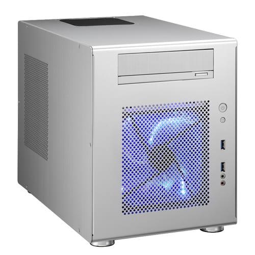 Lian Li PC-Q08A. Plata. Cubo