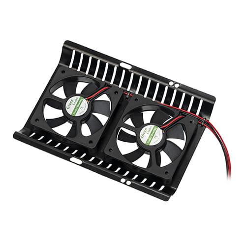 Cooler disco duro con 2 ventiladores