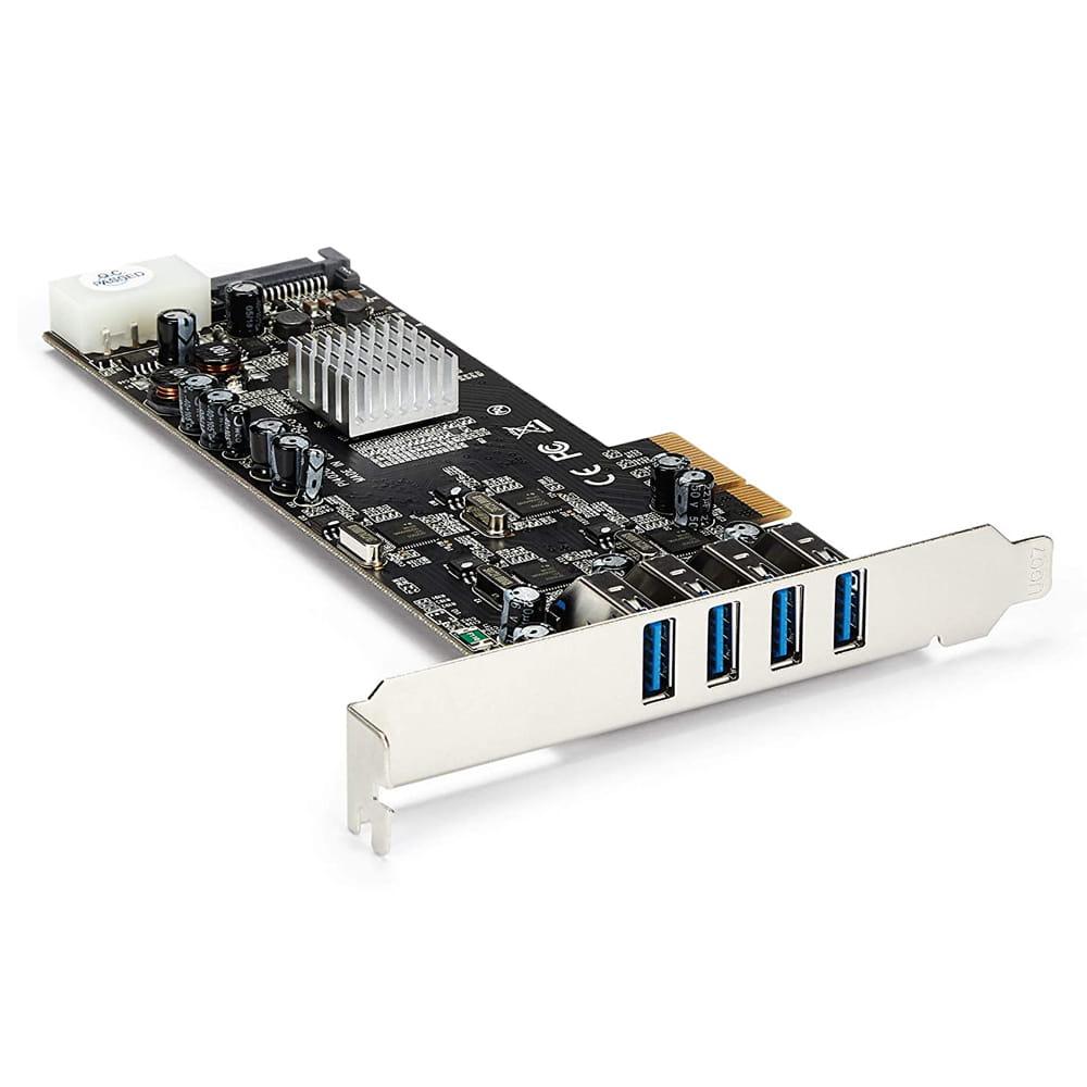 Startech PEXUSB3S44V. Tarjeta PCIe x4 con 4 puertos USB 3.0