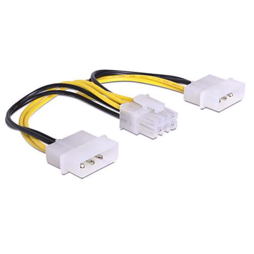 Delock 83410. Cable de alimentación 2x 4-Pin a 8-Pin EPS. 15cm.