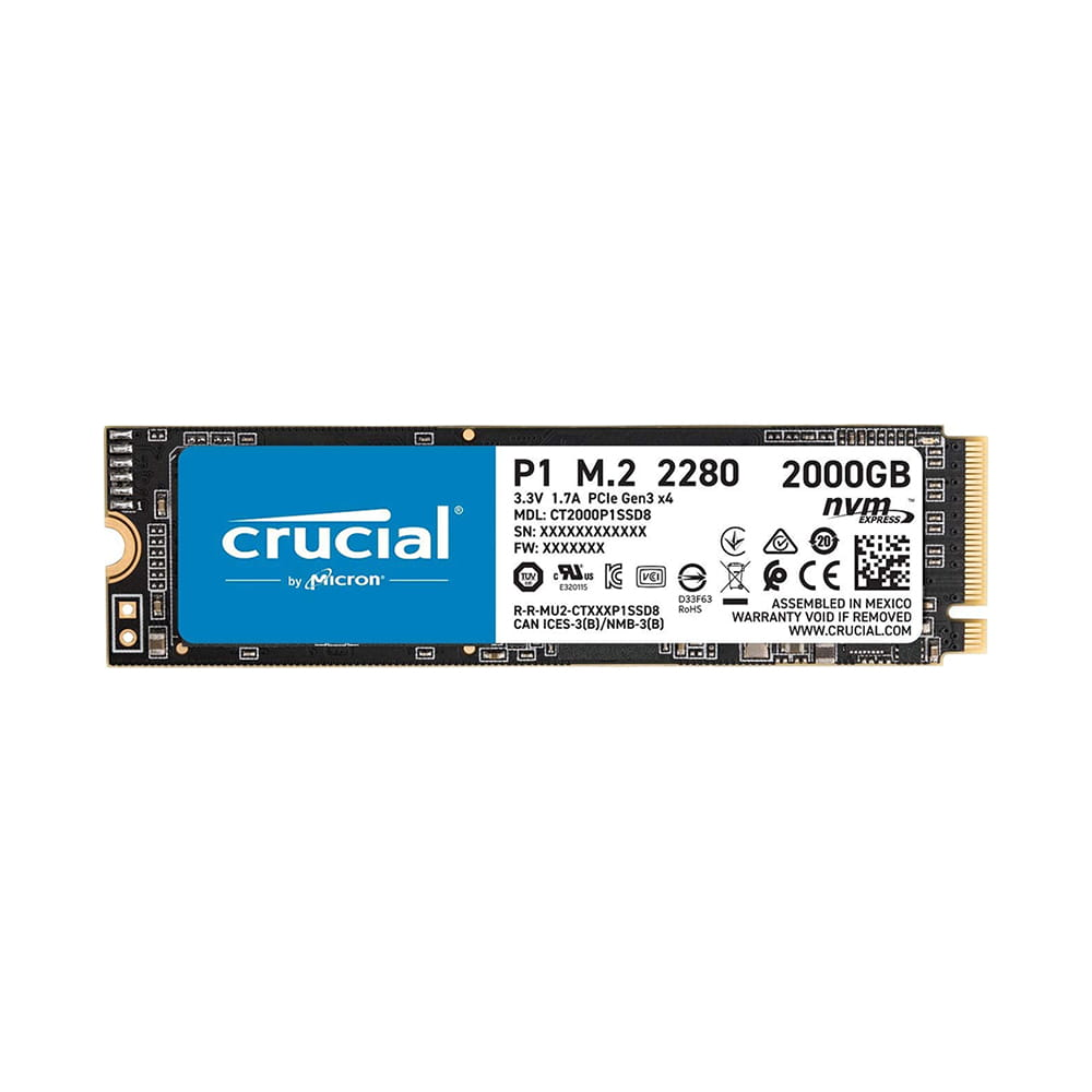 SSD 2Tb Crucial P1 NVMe M.2 Type 2280