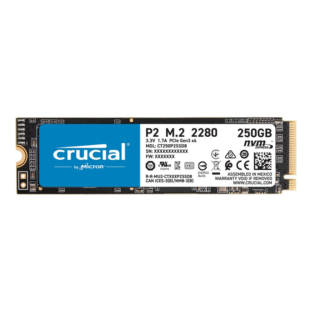 SSD 250Gb Crucial P2 NVMe M.2 Type 2280