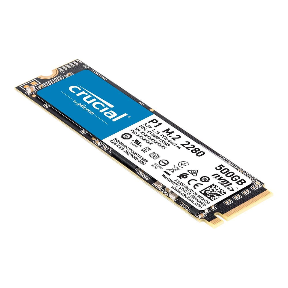SSD 500Gb Crucial P1 NVMe M.2 Type 2280