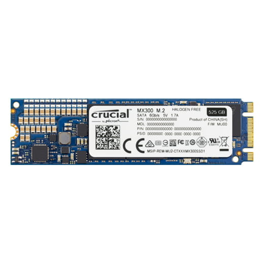 SSD 525Gb Crucial MX300 M.2 Type 2280