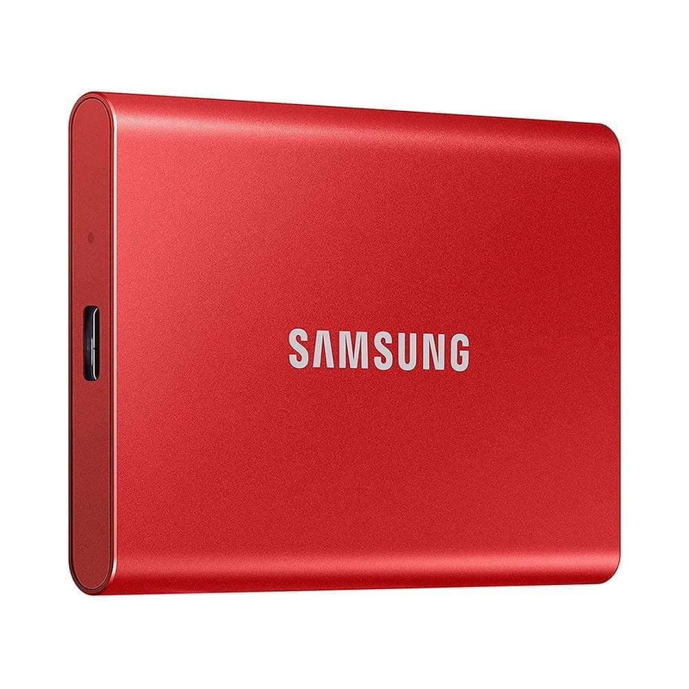Samsung Portable SSD T7 500Gb USB 3.2 Rojo