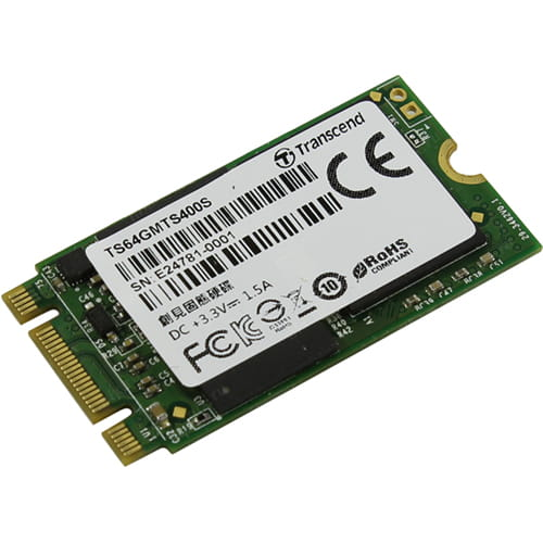 SSD 64Gb Transcend 400S SATA3 M.2 Type 2242 - REFURBISHED
