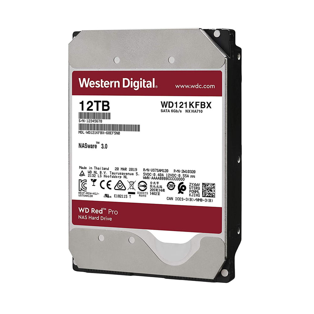 HDD 12Tb Western Digital Red Pro NAS 3.5 SATA3 7200rpm