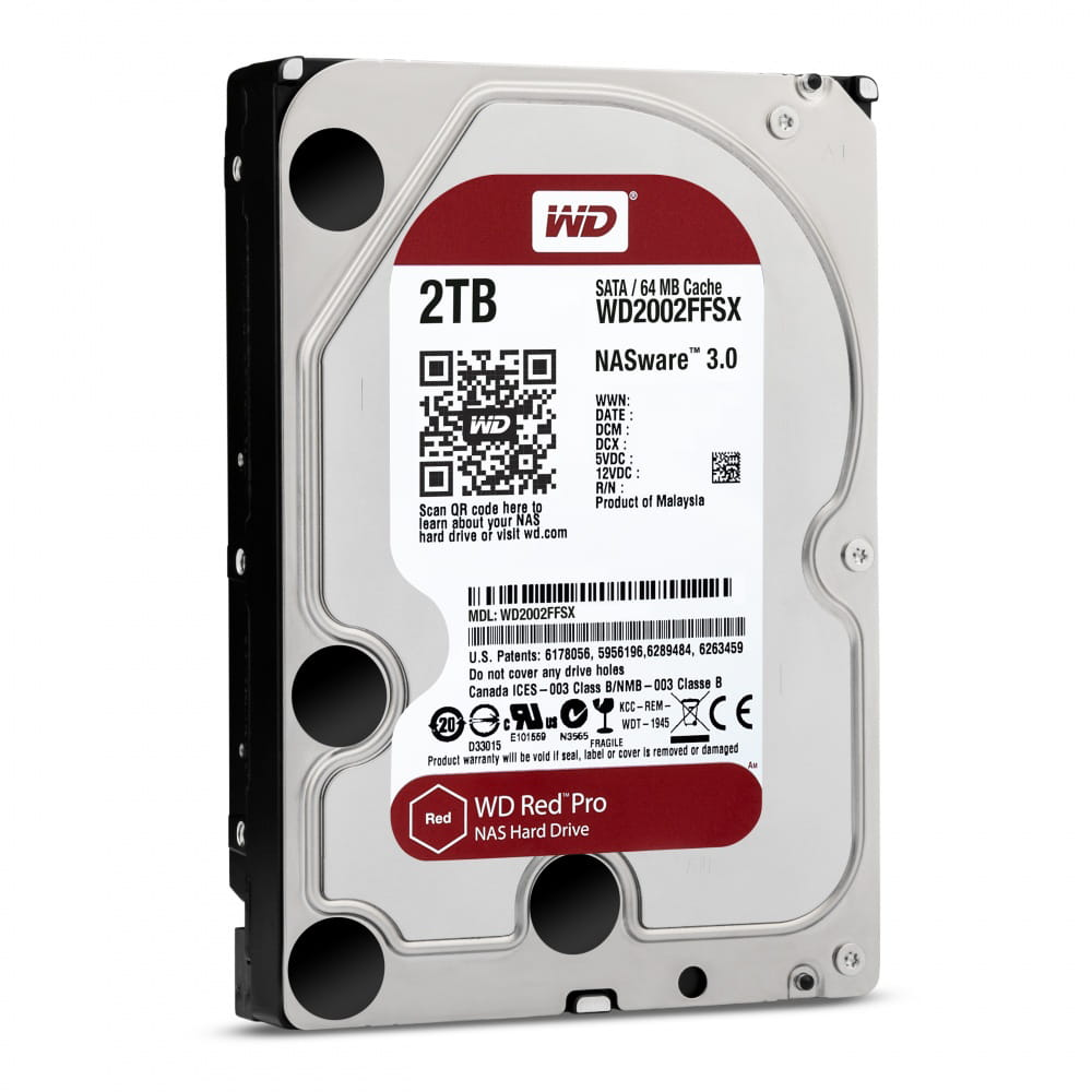 HDD 2Tb Western Digital Red Pro NAS 3.5 SATA3 7200rpm