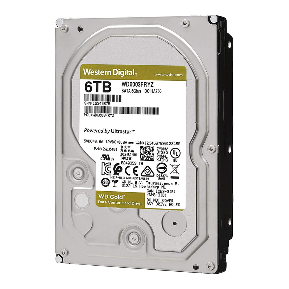 HDD 6Tb Western Digital Gold 3.5 SATA3 7200rpm