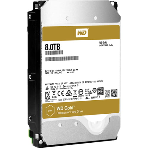 HDD 8Tb Western Digital Gold 3.5 SATA3 7200rpm