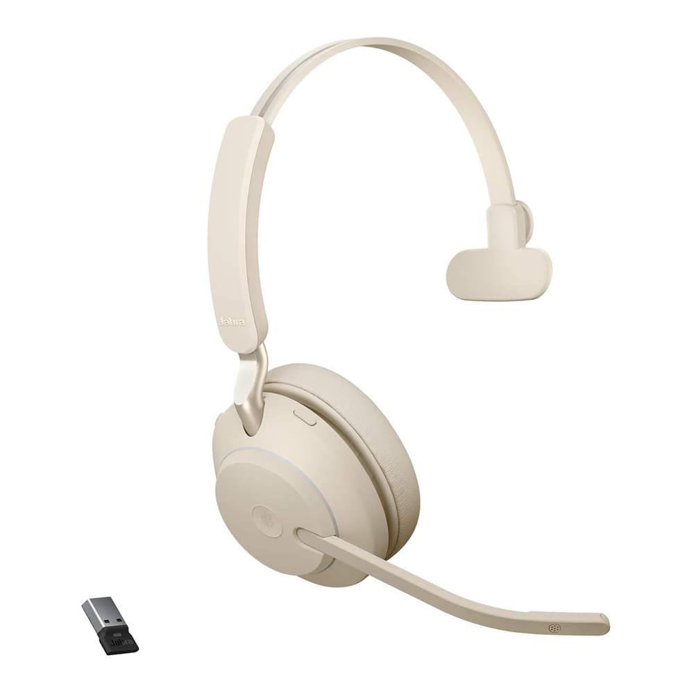 Jabra Evolve2 65 UC Mono Bluetooth/USB-C Beige