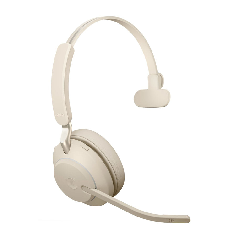 Jabra Evolve2 65 MS Mono Bluetooth/USB-C Beige