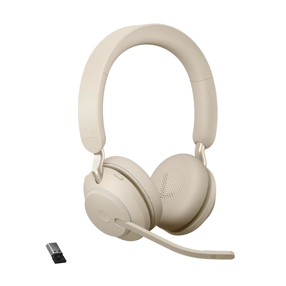 Jabra Evolve2 65 UC Stereo Bluetooth/USB-A Beige