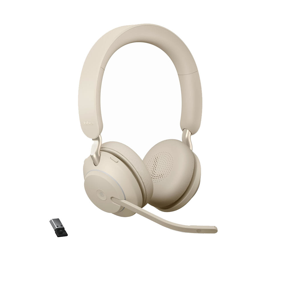 Jabra Evolve2 65 MS Stereo Bluetooth Beige