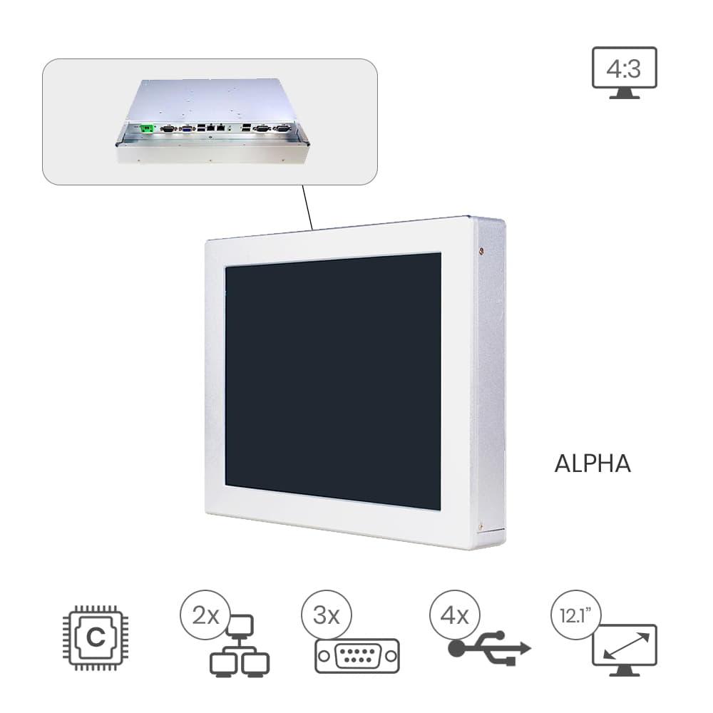 Barebone Panel PC Jetway HPC-121SC-2930-4G