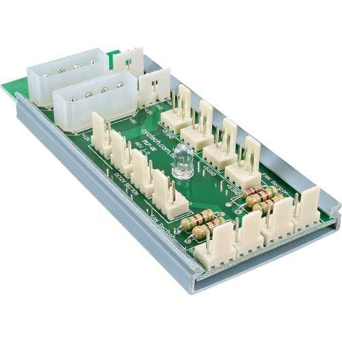 Inline 33008. Alimentador múltiple ventiladores. Molex 5.25 para 12 ventiladores