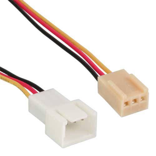 Inline 33328. Cable alargador Molex 3-pin 30cm