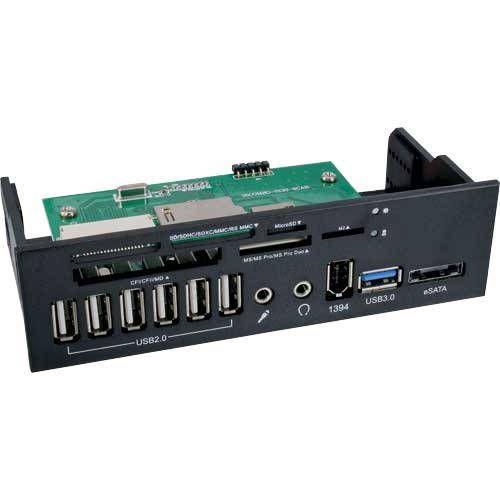 Inline 33394G. Frontal de 5.25 con salidas de puertos y card reader