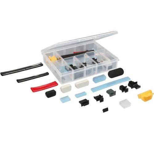 Inline 59941C. Estuche con tapitas antipolvo para conectores y ranuras para el PC