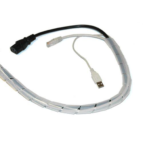 Espiral blanca para organizar cables 18mm y 10m