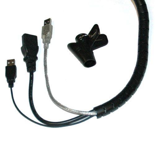 Espiral Negra para organizar cables 15mm y 10m
