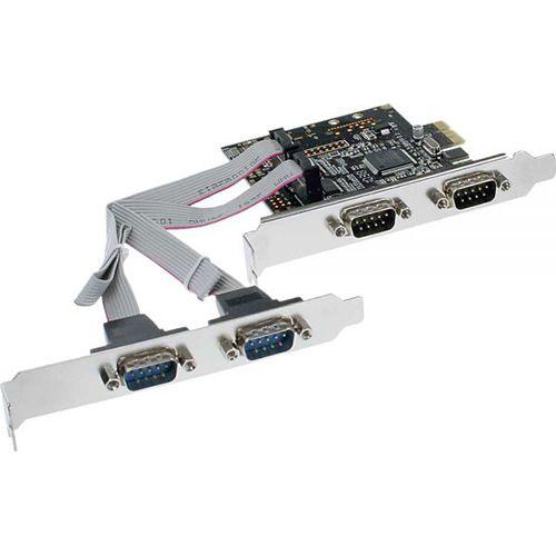 InLine 76623C. Tarjeta PCIeX1 4x RS232 9-Pines