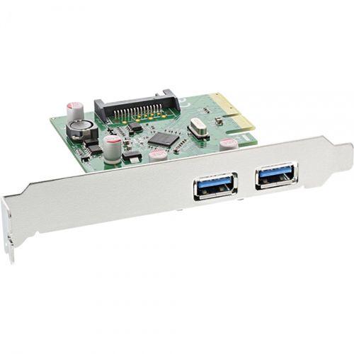 Inline 76660B. Tarjeta PCIe 2 x USB3.1