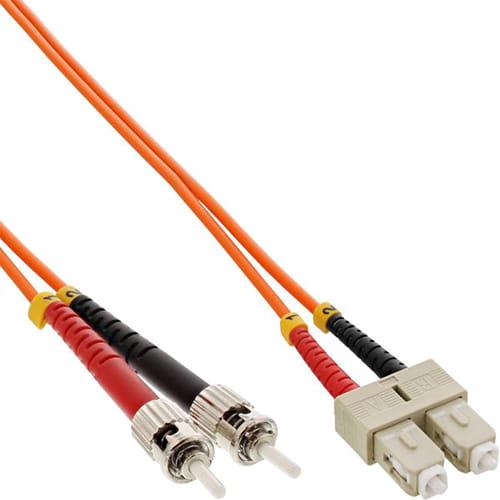Cable Duplex fibra óptica OM2 50/125 micras. SC/ST. 2 metros.