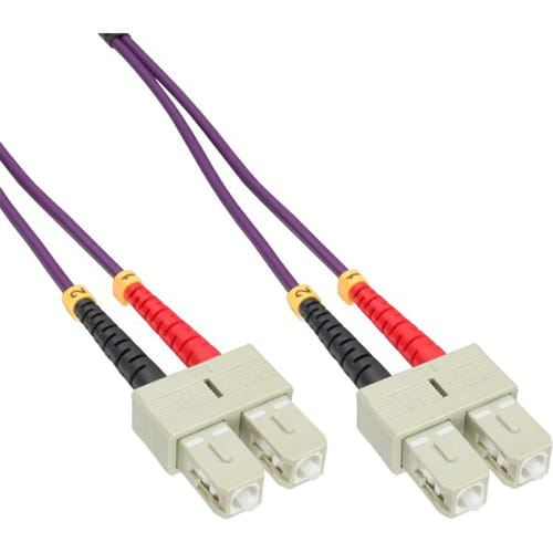 Cable Duplex fibra óptica OM4 50/125 micras. SC/SC. 2 metros.