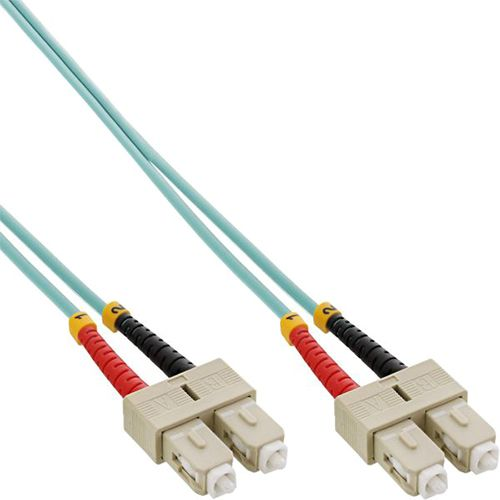 Cable Duplex fibra óptica OM3 50/125 micras. SC/SC. 25 metros.