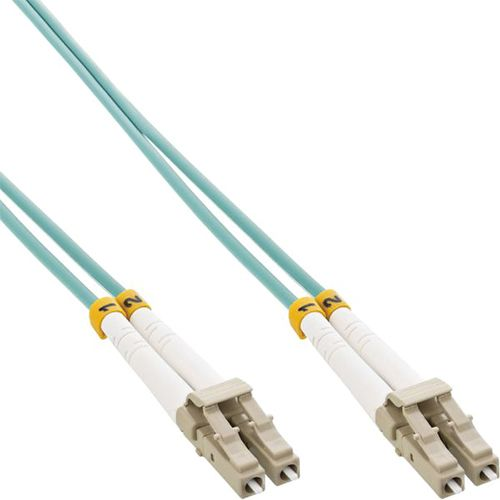 Cable Duplex fibra óptica OM3 50/125 micras. LC/LC. 15 metros.